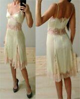 AUTH Dolce & Gabbana lace trimmed silk Dress sz 38