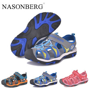 Kids Boys Girls Closed Toe Outdoor Sandals Summer Casual Beach Walking Shoes