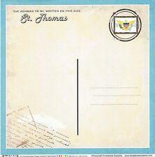 Sc - St Thomas Postcard Scrapbooking Paper - 1 sheet - Vintage 36436