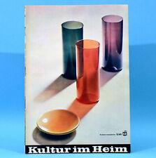 DDR Kultur im Heim 2 1965 Glas Böhmen Lausitz Anbauwand Küche Combi Rafena Q