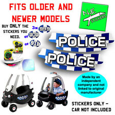 N.E.stickers replacement stickers TO FIT Little Tikes POLICE Cozy Coupe Cop car