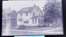 Antique Glass Plate Negative Photograph 1/4 Plate Family Home