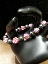 Pink Bead And Magnet Bracelet