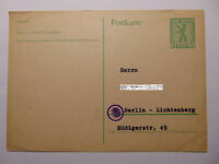 5 Pf Postkarte 1945 Alliierte Besetzung Gemeinschaftsausgaben Berliner Bär Mi P1