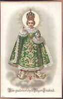Prag Jesús Niño Cuadro Santos Amría Imagen Milagrosa Bohemia Koloriert (B-6670