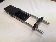 Arri Arriflex 15mm bridge plate with sliding base plate dovetail and lens mount