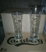 6 verres biere point Carlsberg relief 50cl