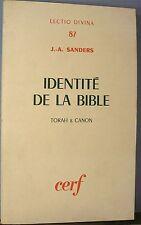 Sanders. Identité de la Bible,Cerf 1975 - World FREE Shipping*