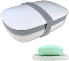 Travel Soap Box Holder Dish Container Case with Sponge Saver Leak Proof Portable