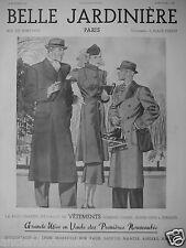 PUBLICITÉ 1937 BELLE JARDINIÈRE VÊTEMENTS HOMMES DAMES ENFANTS - ADVERTISING