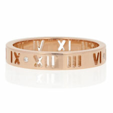 Tiffany & Co. Diamond-Accented Atlas Pierced Ring - 18k Rose Gold Band 6 3/4 - 7