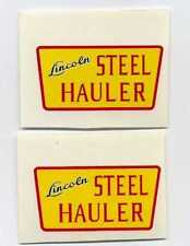 Lincoln Toys Steel Hauler Replacement Decal Set
