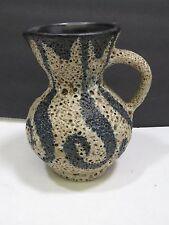 Lapid Mid Century Israel Signed Vase Pitcher Creamer Lava Sandstone Glaze Abstra