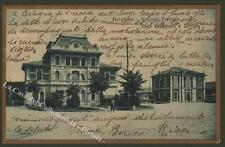 Bergamo. Stazioni - Ferrovie  Valle Brembana e Seriana. Cartolina viaggiata 1923