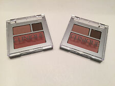 2 x  Clinique All About Shadow Duo:chocolate bark -day into date / new clover