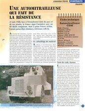 Armored car Automitrailleuse CDM GMC ACK 353 FRANCE WWII Char Tank FICHE