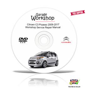Citroen C3 Picasso 2009-2017 Workshop Service Repair Manual CD/USB/Download PDF