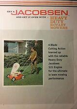 Jacobsen 21 4-Blade 321 2-Stroke Walk Behind Lawn Mower Color Sales Brochure 4pg