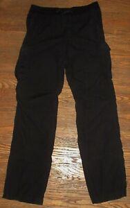 James Perse Men's Cargo Pants Black Size 2 Medium 32x34 100% Cotton Drawstring