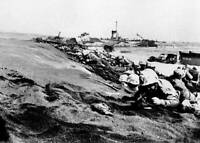 OLD LARGE MILITARY PHOTO, WWII Battle Iwo Jima, Landing of the Marines