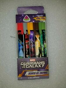 NIB Marvel Comics Guardians Of The Galaxy Scented Gel Crayons - 5 Cosmic Scents