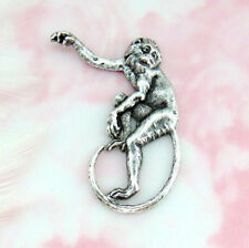 ANTIQUE SILVER Monkey Stamping ~ Jewelry Finding (A 322)