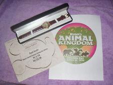 WALT DISNEY WORLD ANIMAL KINGDOM LIMITED EDITION OPENING DAY 4/22/98  WATCH