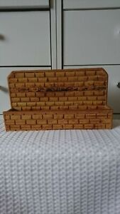 VINTAGE RETRO BAMBOO CANE WOOD LETTER RACK WALL MOUNTED OR FREE STANDING