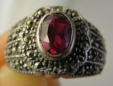 Spinel Diamond Sterling Silver Ring
