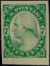 #186-E2a PLATE ESSAY ON STAMP PAPER IMPERF (GREEN) BQ5683
