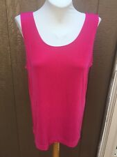 New Stunning Soldout Chico's Travelers Pucker Up Pink Tank Top Sz 3 XL 16 18 NWT