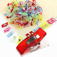 100Pcs Multicolour Plastic Wonder Clip Fabric Quilting Sewing Knitting Crochet