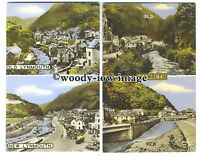 tb0192 - Devon - Double Views of Old and New Lynmouth - 2 postcards