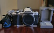 Silver Olympus OM-D E-M10 Mark II 16MP Micro 4/3 Digital Camera Body Only- Mint!