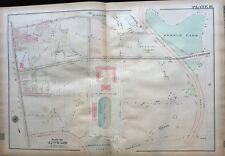 ORIG 1923 G.W. BROMLEY OLNEY PHILADELPHIA PA, LA SALLE COLLEGE, ATLAS PLAT MAP