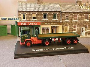 Eddie Stobart Scania 110 Flat bed Artic 1/76th OO Gauge for railway layout