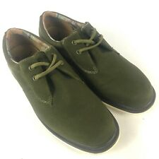 DR DOC MARTENS Regan Olive Green Canvas Oxford Shoes Size US 12 EU 46