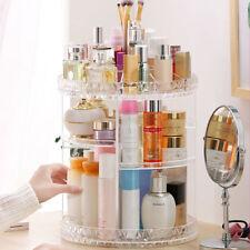 360 Degree Rotating Makeup Organizer Acrylic Cosmetic Display Spinning Rack