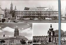 AK DDR Dresden (5) Kulturpalast Rathaus Zwinger 1980 ungel. Ansichtskarte Foto