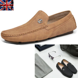 Mens Driving Loafers Dress Shoes Casual Slip On Flat Moccasins Shoes Size UK GC