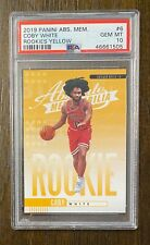 2019-20 Absolute Yellow Coby White #6 Chicago Bulls Rookie PSA 10 Gem Mint