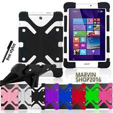 """Shockproof Silicone Stand Cover Case For Various 7"""" 8"""" Acer Iconia Tablet + Pen"""