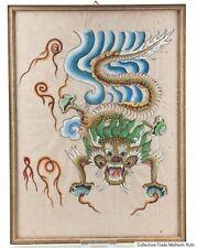 China / Tibet 20. Jh. - A Chinese / Tibetan Dragon Painting - Tibetano Tibétain