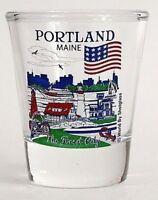 PORTLAND MAINE GREAT AMERICAN CITIES COLLECTION SHOT GLASS SHOTGLASS