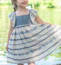 BONNIE JEAN® Little Girls 6X Woven Chambray Dress NWT $55