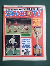SHOOT - MAGAZINE- 27 JUNE 1970 - BOBBY MOORE - TONY BROWN - WORLD CUP