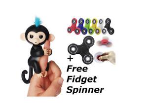 Finger Schwarz Affe Mit Gratis Herumzappeln Spinner, Einhorn