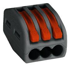 50 stück  WAGO 222-413 Verbindungsklemme 3-Leiter-Klemme 3x0,08-2,5qmm