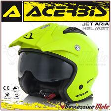 Casco Acerbis Jet aria Moto Trial Scooter Street Urban Giallo Fluo Taglia M