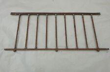 106 / 131 cm - Ancien garde corps de fenêtre en fer forgé & bague bronze Empire